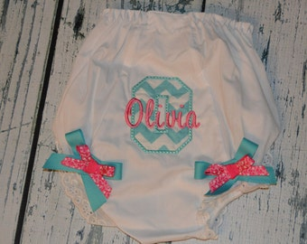 Personalized  Bloomers Monogram Bloomer Diaper Cover