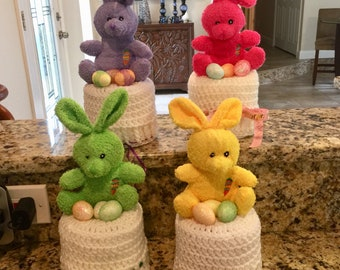 Easter Bunny Toilet Paper Cover, Rabbit Toilet Paper Roll Cover, Easter Egg Bathroom Decor, Toilet Paper Cozy READY TO SHIP
