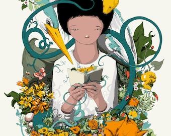 Children's Art Print - Storyteller