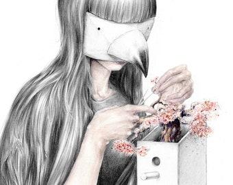 "Archival quality A3 Print - ""Bonsai"""