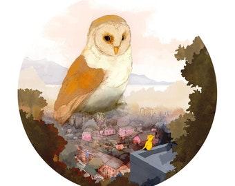 "Art Print 29cm x 29cm - ""City Owl"""
