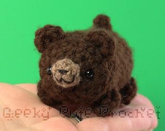 Brown Bear Yama Amigurumi Plush Toy Crochet Stuffed Animal