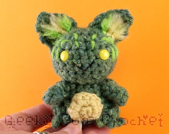 Green Gremlin Imp Fey Toy Stuffed Animal Amigurumi Crochet