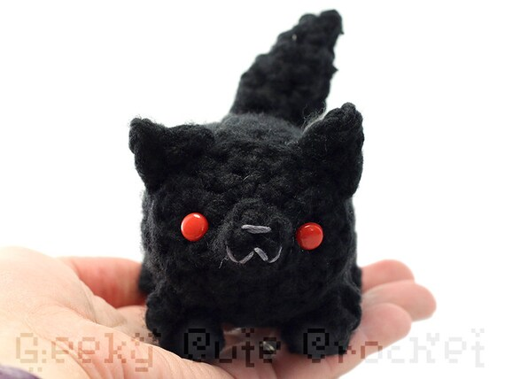 Large Black Wolf Yama Amigurumi Plush Toy Stuffed Animal Etsy