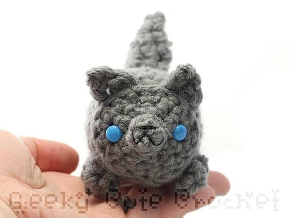 Large Gray Wolf Yama Amigurumi Plush Toy Stuffed Animal Etsy