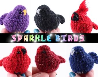 Sparkle Birds Plush Toy Stuffed Animal Amigurumi Crochet
