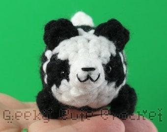 Panda Bear Yama Amigurumi Plush Toy Crochet Stuffed Animal
