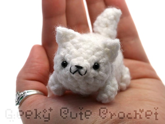 White Wolf Yama Amigurumi Plush Toy Stuffed Animal Crochet Etsy