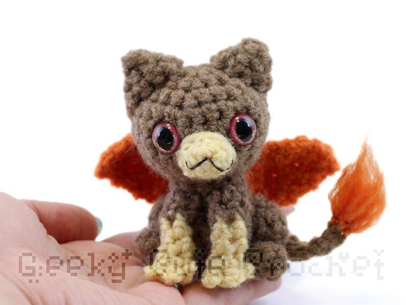 Brown Gryphon Griffin Plush Toy Stuffed Animal Amigurumi Crochet