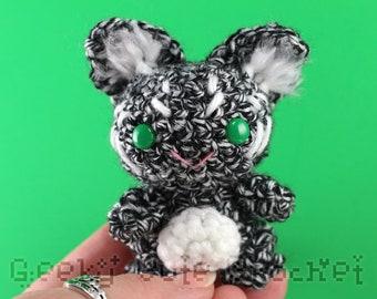 Black and White Gremlin Imp Fey Toy Stuffed Animal Amigurumi Crochet