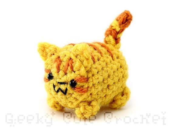Orange Tabby Kitty Cat Yama Amigurumi Plush Toy Crochet Etsy