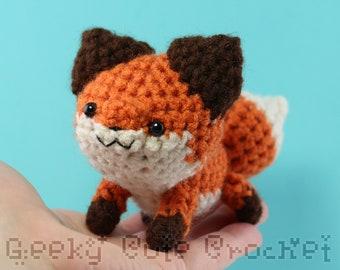 Red Fox Plush Toy Animal Stuffie Amigurumi Crochet
