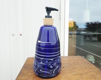 Cobalt Glass Soap Dispenser