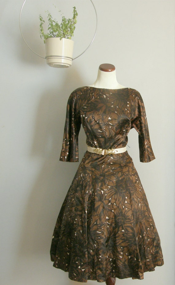 1950s Gigi Young Round Neck Day Dress
