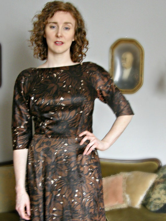 1950s Gigi Young Round Neck Day Dress - image 2