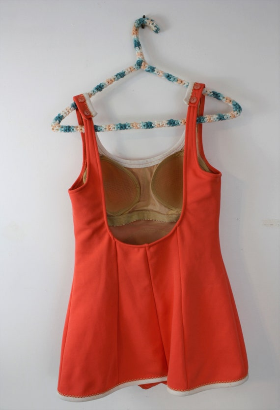 1960s swimsuit one piece with built in skirt and … - image 10