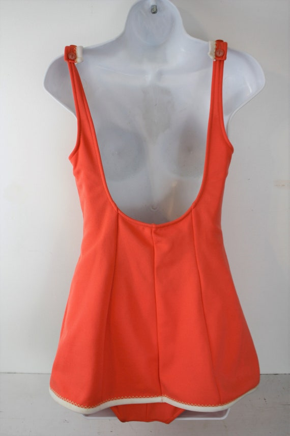 1960s swimsuit one piece with built in skirt and … - image 8