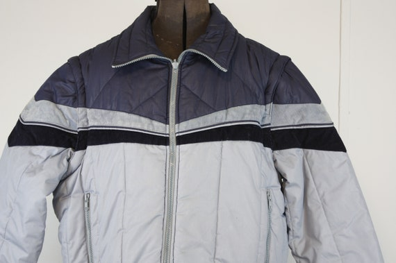 vintage 80s reversible puffy jacket with removable