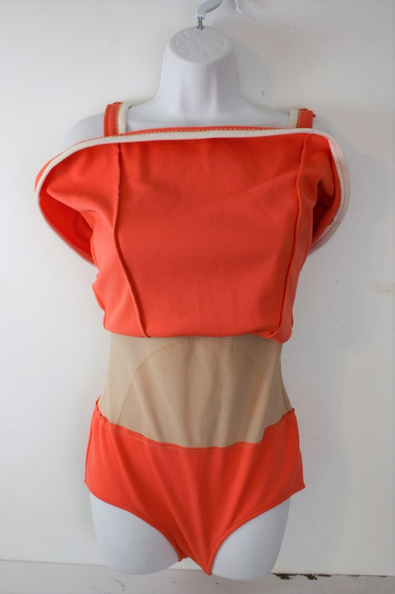 1960s swimsuit one piece with built in skirt and … - image 7