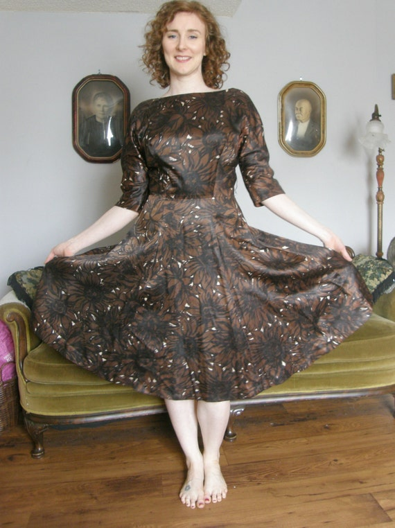 1950s Gigi Young Round Neck Day Dress - image 4