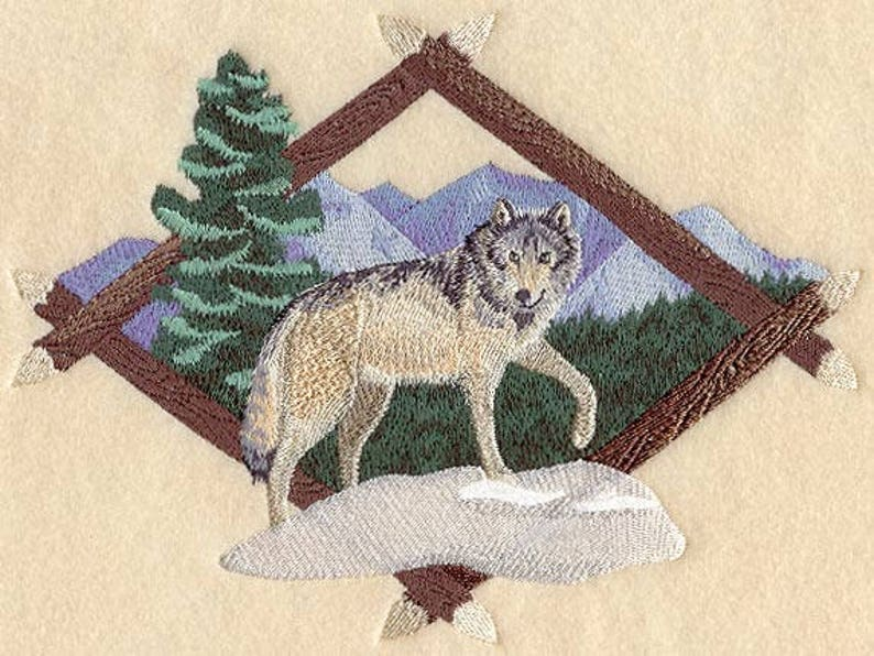 WOLF EMBROIDERY on Sweat or Tee by Rosemary image 0