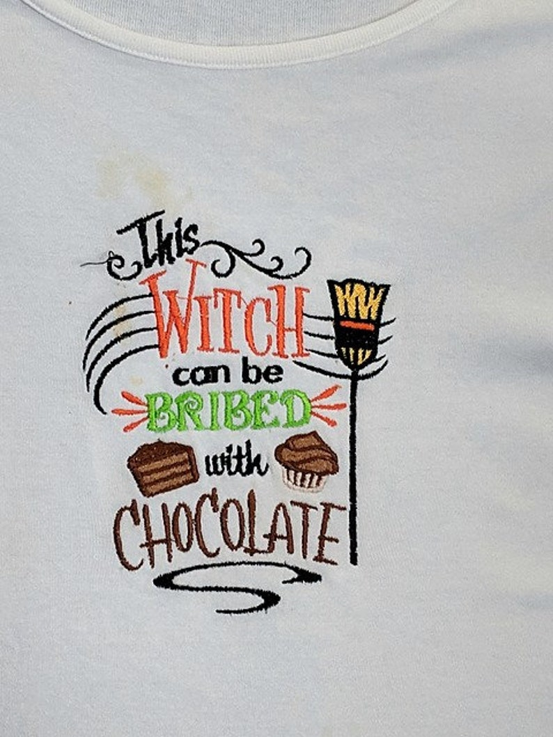 HALLOWEEN 1 Embroidery on   Tee or Sweat by Rosemary image 0