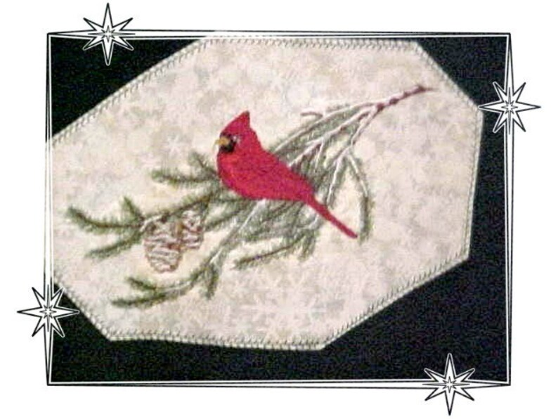 CARDINAL Embroiderd on Sweatshirt or  Tee by Rosemary image 0