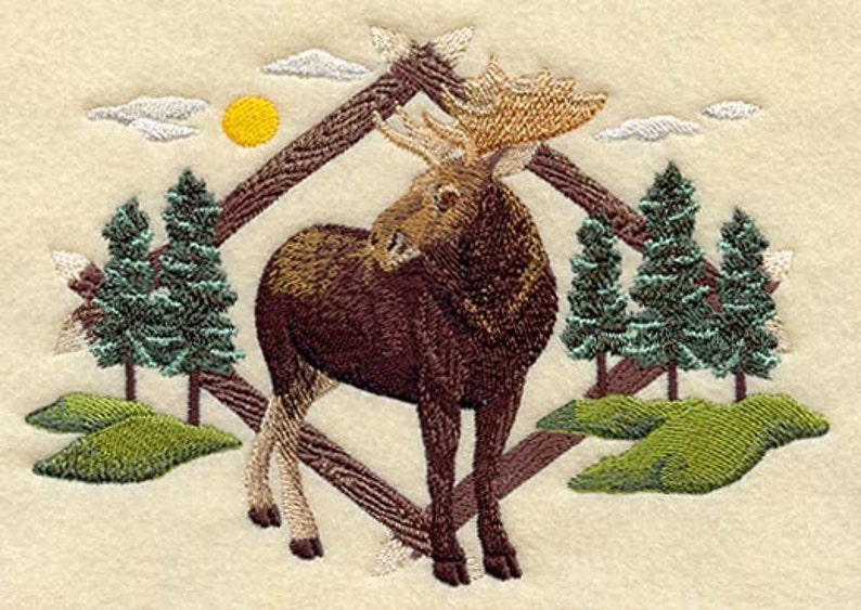 MOOSE EMBROIDERY on  Sweat or Tee  by Rosemary image 0