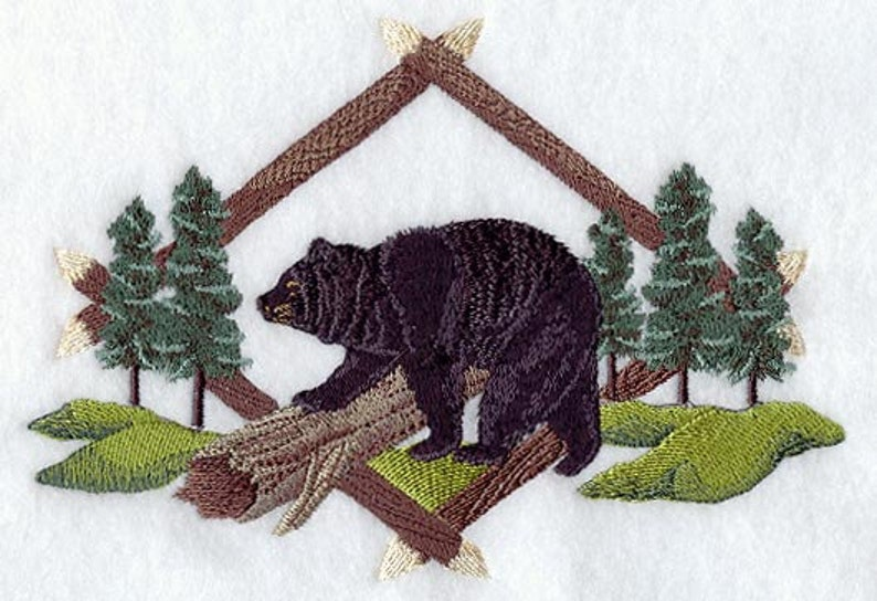 BEAR EMBROIDERY on   Sweat or Teecby Rosemary image 0