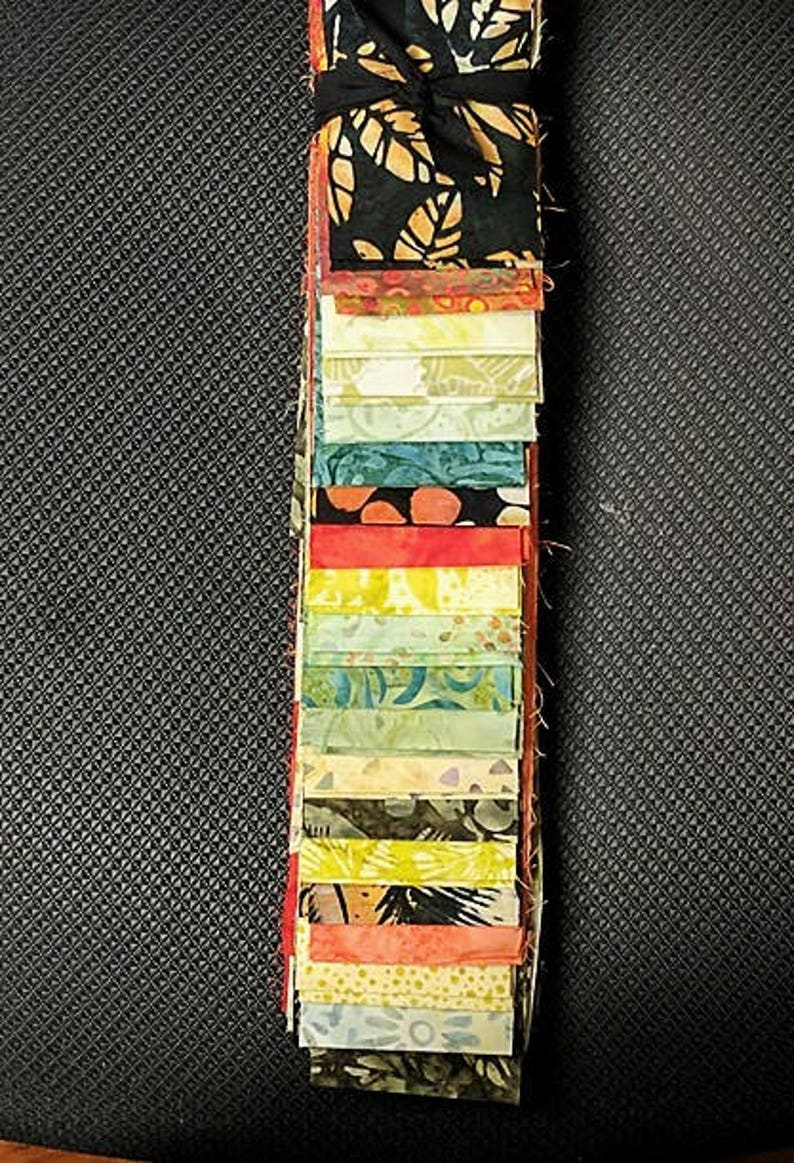 60% OFF  40 pc Set OCTOBER Cotton Batik Jelly Roll Strips image 0