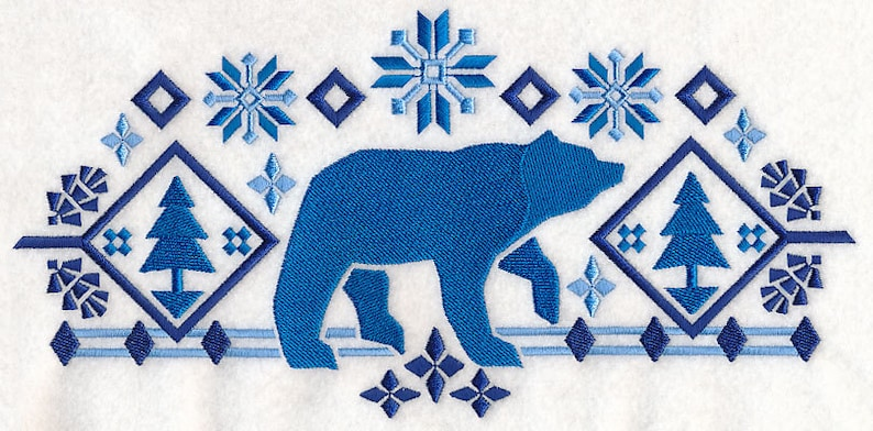 NORDIC BEAR EMBROIDERY on Tee or Sweat by Rosemary image 0
