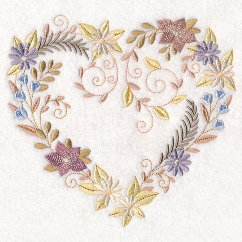 HEART WREATH VALENTINE  on Ladies'  Tee or Sweat by image 0