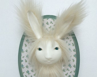 Bunny Rabbit Faux Taxidermy Wall Mounted  Phylum Obscura