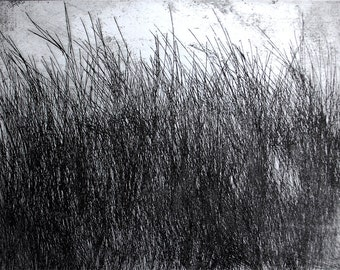 The Thicket, an original etching in black, handpulled and signed and numbered by the artist