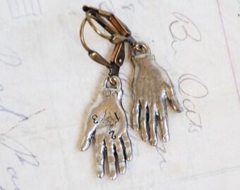 Hand Earring Frida Kahlo Earrings Silver Hand Earrings Hand Amulet Gift for Her Fortune Teller Palmistry Frida Kahlo Jewelry Halloween