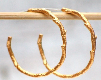Twig Branch Earrings Gold Hoop Earrings Silver Hoop Earrings Woodland Jewelry Gift for Her Rustic Boho Branch Jewelry Gold Twig Earrings