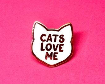 Cat Pin - Cat Lady Pin - Cat Pins - Cat Brooch - Cat Gifts - Cat Lady - Crazy Cat Lady - Mothers Day Gift