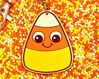 Halloween Keychain - Candy Corn Keychain - Halloween Charms - Halloween Bag Charm - Halloween Candy - Kawaii Halloween  - Halloween 2021