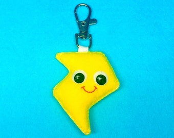 Lightening Charm - Cute Keychain - Bag Charm - Lightening Bolt - Kawaii Charm - Cute Keyring
