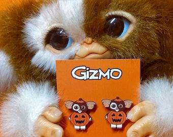 Halloween Earrings - Gizmo Earrings - Gremlins Jewellery - 80's Movie Earrings