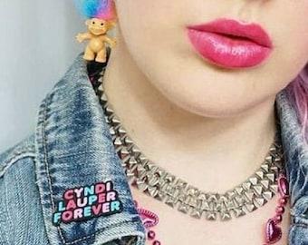 Cyndi Lauper - Cyndi Lauper Pin - Cyndi Lauper Fan - Girls Just Wanna Have Fun - 80's Cyndi Lauper - 80's Enamel Pin