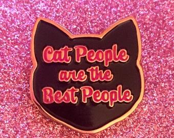 SECONDS PIN - Black Cat Pin - Cat Pin -  Enamel Cat Pin - Cat Brooch - Cat jewellery - Kitty Pin - Cat Gifts - Crazy Cat Lady