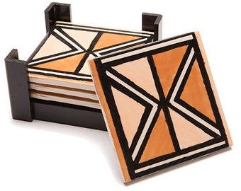 Mali Bogolon Ceramic Tile Coaster Set