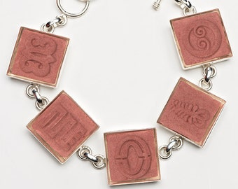 Adinkra Cinnamon Adjustable Ceramic Bracelet for Anyone