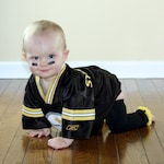 Black and Gold Yellow Pittsburg Steelers Boston Bruins Purdue Baby Leg Warmers