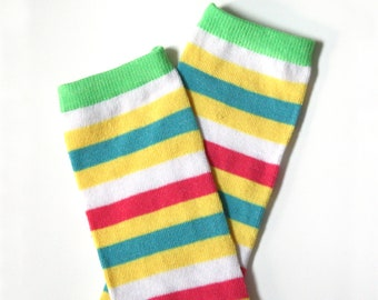 Striped Baby Toddler Leg Warmers