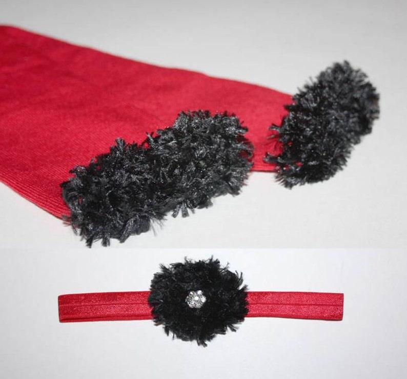 Red and Black Atlanta Falcons Cardinals Baby Leg Warmers and image 0