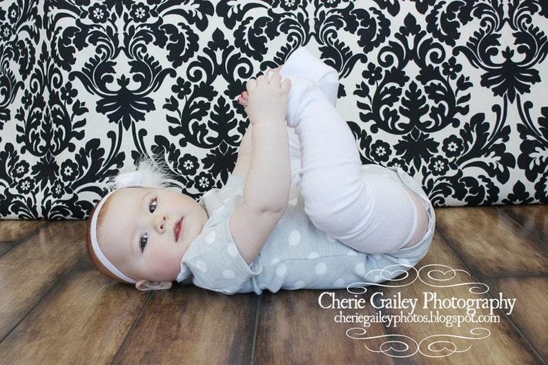 White baby Leg Warmers image 0