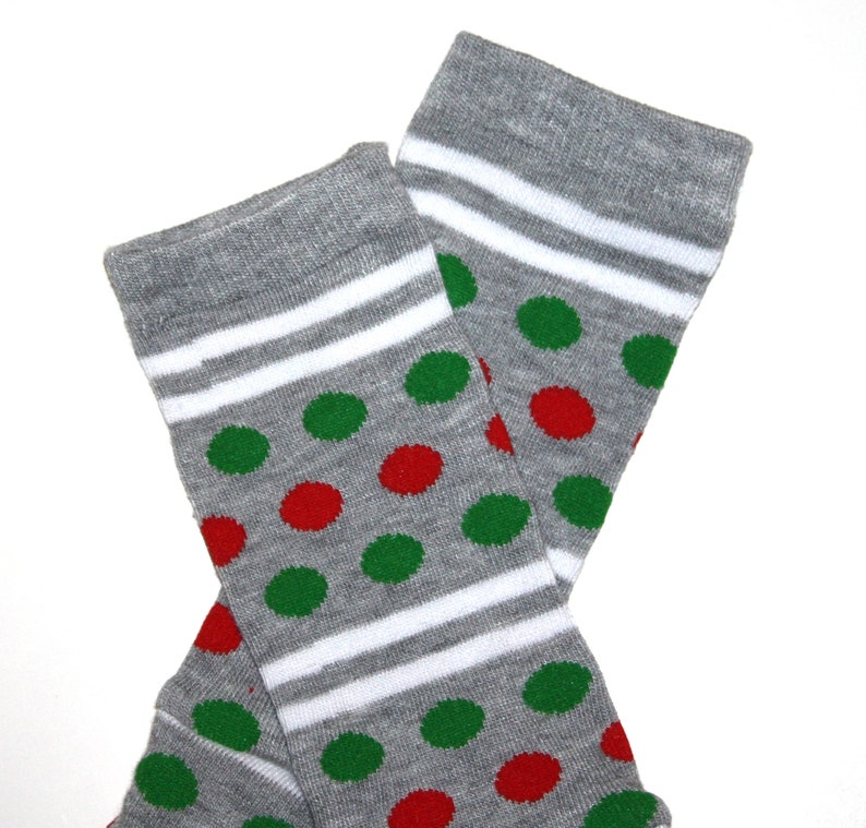 Newborn Christmas Dots and Stripes Baby Leg Warmers image 0