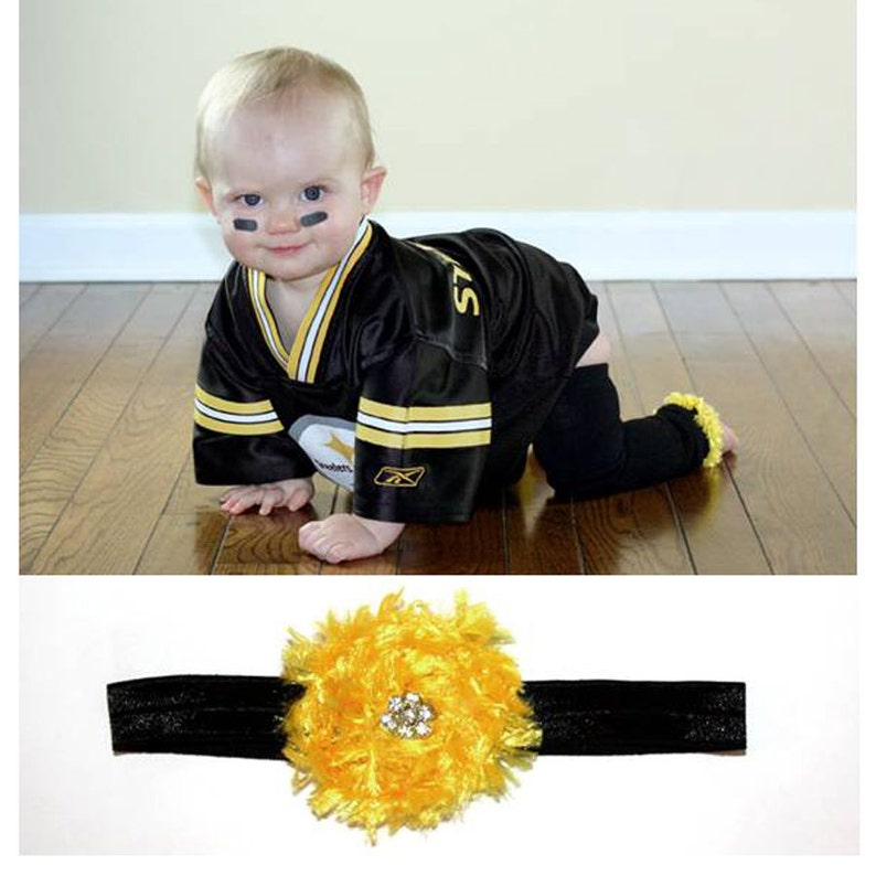 Yellow and Black Steelers Hawkeyes Baby Leg Warmers and image 0